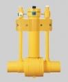 Полиэтиленовый шаровый кран приводного типа